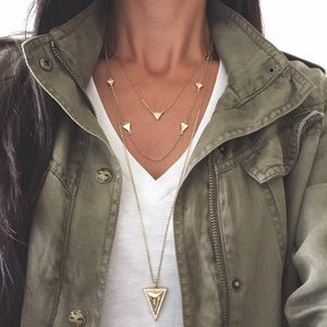 Chloe + Isabel Jewelry - Pave Triangle Long Pendant Necklace